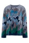 Бомбер унисекс, стриженая норка с цифровым принтом «Горы», 375000 рублей