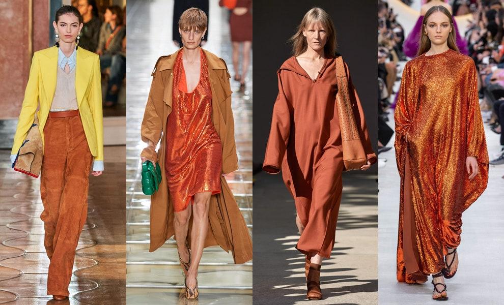 Терракотовый — яркий тренд сезона весна-лето 2020   Vogue Russia