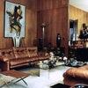 Винтажный интерьер гостиной Ива Сен-Лорана, 1971