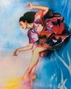 Dance, Dance Pose, Elizaveta Porodina, Carolina Herrera, Ballet, Painting, Natasha Diamond Walker