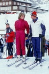 This image may contain Diana, Princess of Wales, Human, Person, Nature, Outdoors, Snow, Sport, Sports, Skiing, and Piste