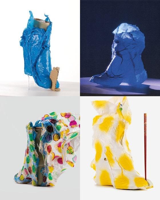 Трое художников превратили сапоги таби Maison Margiela в арт-объекты в коллаборации с брендом