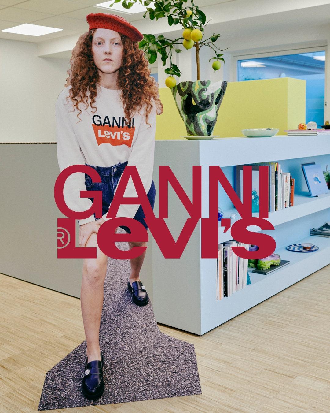 Винтажный деним на эту весну в капсульной коллекции Ganni x Levi's