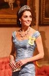Герцогиня Кембриджская во время Государственного банкета в Букингемском дворце