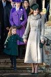 королевская семья Кейт Миддлтон герцогиня Кембриджская и принцесса Шарлотта на Рождество в церкви