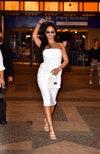 платье, человек, белое платье, очки, Рианна