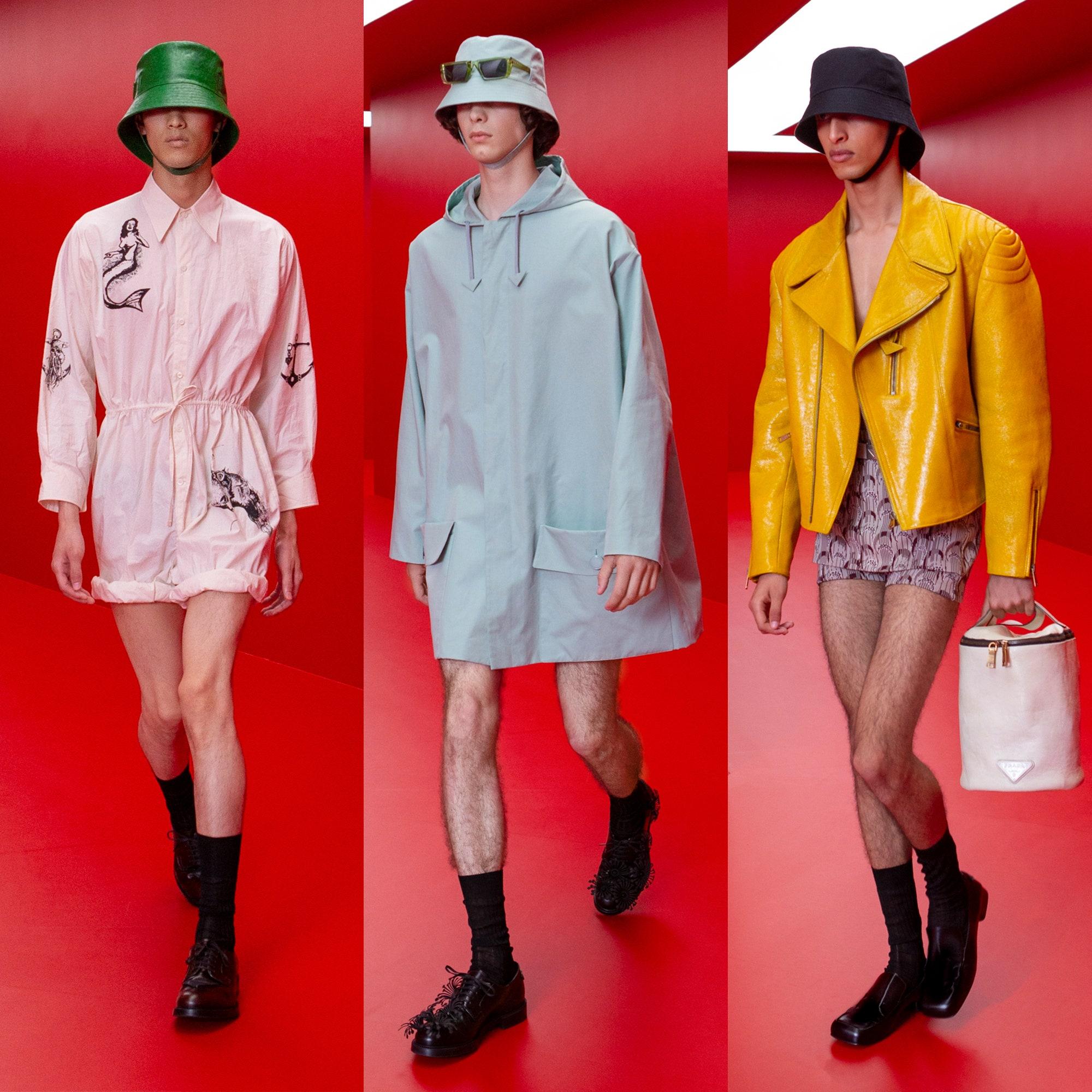 Prada Menswear весна-лето 2022: будут ли обновленные панамы итальянского бренда такими же успешными, как и предыдущие?