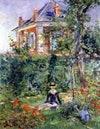 Fille dans le jardin de Bellevue - Sentier des Pierres Blanches ( Meudon ) . 1880. Edouard Manet - Girl in the Garden at Bellevue