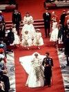 La Princesse Diana et le Prince Charles fraîchement mariés.