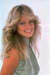 Image may contain: Farrah Fawcett, Face, Human, Person, Blonde, Teen, Kid, Child, Hair, Clothing, Apparel, and Smile
